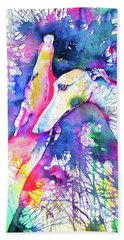 Greyhound Trance Beach Towel