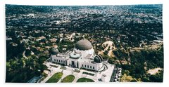 Griffith Observatory And Dtla Beach Towel
