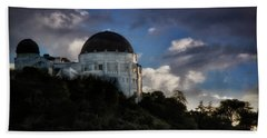 Beach Towel featuring the photograph Griffith Observatory by Joseph Hollingsworth