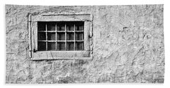 Beach Towel featuring the photograph Grille In A Wall - Slovenia by Stuart Litoff