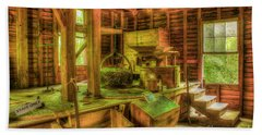 Beach Towel featuring the photograph Grindingworks Mingus Mill Great Smoky Mountains Art by Reid Callaway