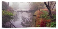 Grings Mill Fog 015 Beach Towel