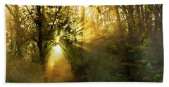 Grings Mill Fog 15-039 Beach Towel