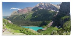 Grinnell Lake - Glacier National Park Beach Towel