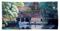 Grist Mill Philipsburg N Y Beach Towel