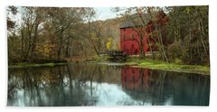 Grist Mill Wreflections Beach Towel