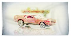 Gritty Mustang Mach 1 Beach Towel by Wade Brooks