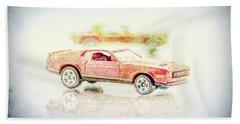 Gritty Mustang Mach 1 Beach Towel