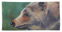 Grizzly Bear Portrait Beach Towel