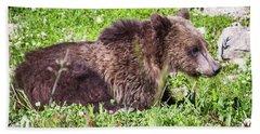 Grizzly Cub  Beach Towel