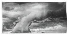 Groom Storm Bw Beach Towel