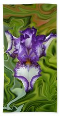 Groovy Purple Iris Beach Sheet