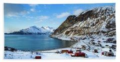 Grotfjord Norway Beach Towel by Mariusz Czajkowski