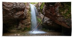 Grotto Falls Beach Towel
