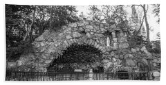 Grotto Of Our Lady Of Lourdes 3 Beach Towel