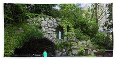 Grotto Of Our Lady Of Lourdes Beach Sheet