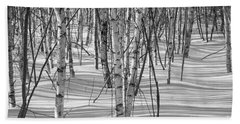 Group Of White Birches Beach Sheet