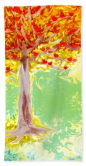 Growing Love Beach Towel by Claudia Ellis
