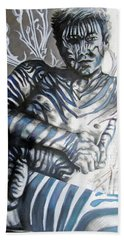 Growing Pains Zebra Boy  Beach Towel