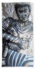 Growing Pains Zebra Boy  Beach Sheet