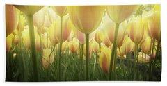 Growing  Tulips  Beach Towel by Anastasy Yarmolovich