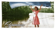 Grumman Canoe Beach Towel