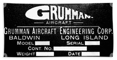 Grumman Product Plate Beach Towel