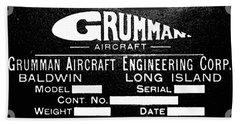Grumman Product Plate Beach Sheet
