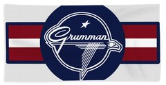 Grumman Stripes Beach Towel