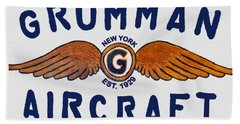 Grumman Wings Blue Beach Towel