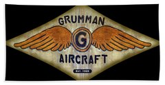Grumman Wings Diamond Beach Towel