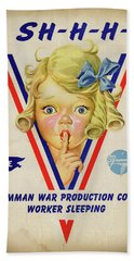 Grumman Worker Sleeping Poster Beach Towel