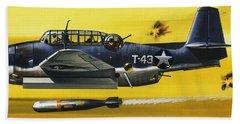 Grummen Tbf1 Avenger Bomber Beach Towel