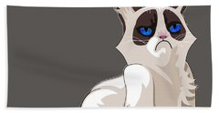 Grumpy Cat Beach Towel