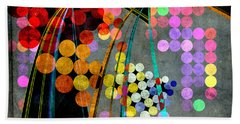 Grunge City Lights Beach Towel