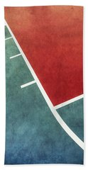 Beach Towel featuring the photograph Grunge On The Basketball Court by Gary Slawsky