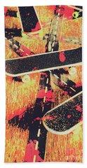Grunge Skate Art Beach Towel