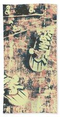 Grunge Skateboard Poster Art Beach Towel