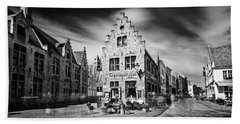 Beach Towel featuring the photograph Gruuthuse Hof In Bruges by Barry O Carroll