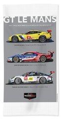 Gt Le Mans Poster Beach Towel