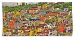 Guanajuato Hillside Beach Towel by Juli Scalzi