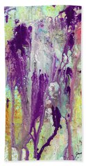 Guardian Angels - Colorful Spiritual Abstract Art Painting Beach Sheet