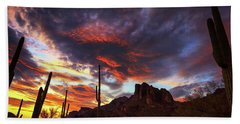 Beach Towel featuring the photograph Guardians Of The Mountain by Rick Furmanek
