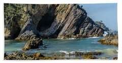 Beach Towel featuring the photograph Guerilla Bay 4 by Werner Padarin