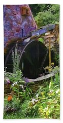 Guernsey Moulin Or Waterwheel Beach Towel