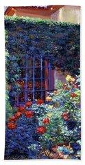 Guesthouse Rose Garden Beach Towel by David Lloyd Glover