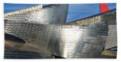 Guggenheim Museum Bilbao - 5 Beach Sheet by RicardMN Photography