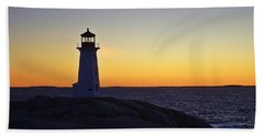 Peggy's Cove Lighthouse Beach Sheet by Heather Vopni