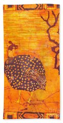 Guinea Fowl Beach Towel