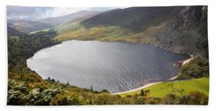 Guinness Lake In Wicklow Mountains  Ireland Beach Towel by Semmick Photo